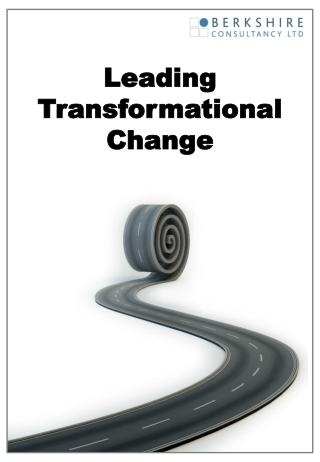 Leadership Challenges  During Times  of Transformational Change