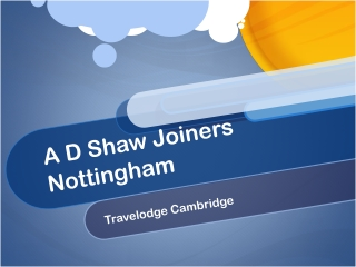 Nottingham Joiners Travelodge