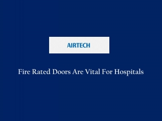 Fire Rated Doors For Hospitals