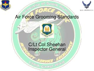 Air Force Grooming Standards C/Lt Col Sheehan Inspector General