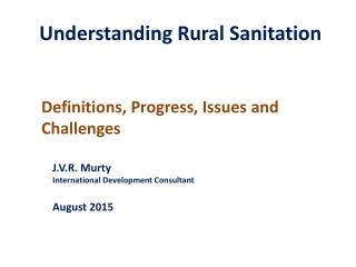 Understanding Rural Sanitation
