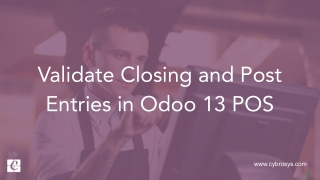 Validate Closing and Post Entries in Odoo 13 POS