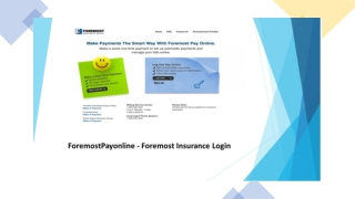 ForemostPayonline - Foremost Insurance Login