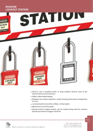 Shadow Lockout Station Manufacturer and Supplier