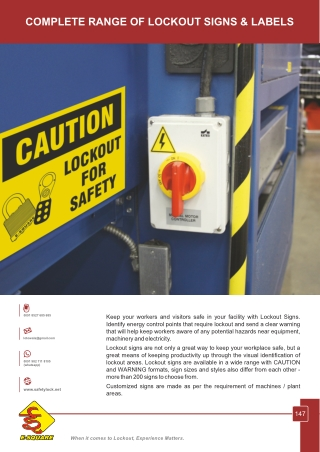 Lockout Signs and Labels by E-Square Alliance