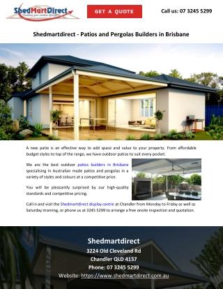 Shedmartdirect - Patios and Pergolas Builders in Brisbane