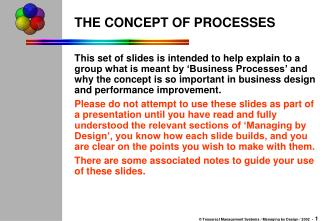 THE CONCEPT OF PROCESSES