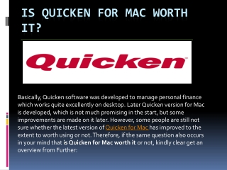 Is Quicken for Mac worth it?