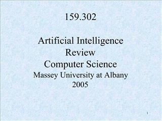 159.302   Artificial Intelligence Review Computer Science Massey University at Albany 2005