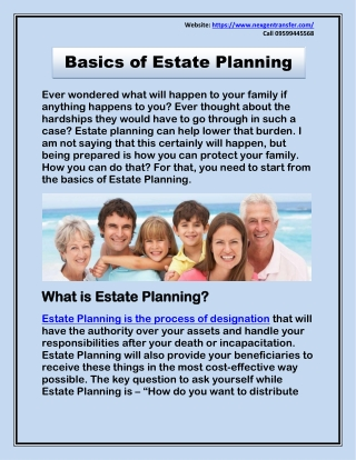 Basics of Estate Planning - Power of Attorney