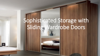 What are some sliding door wardrobes ideas & material for modern home decoration?