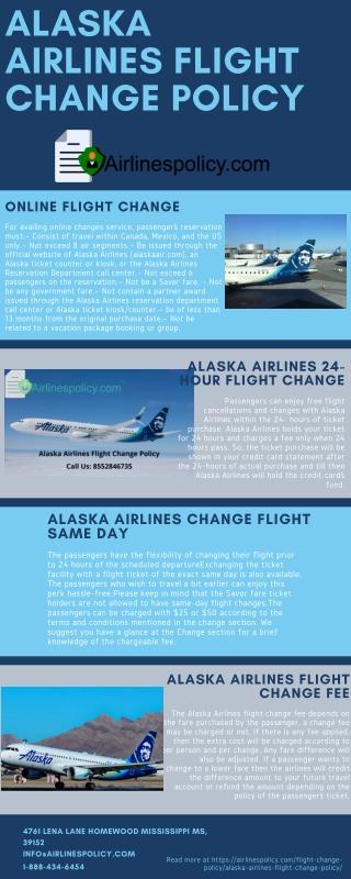 Alaska Airlines Flight Change Policy