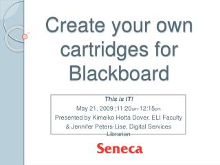 Create your own cartridges for Blackboard