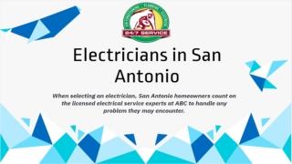 Electricians in San Antonio, TX