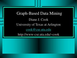 Graph-Based Data Mining