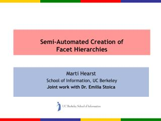 Semi-Automated Creation of Facet Hierarchies