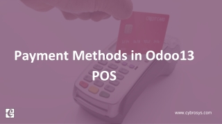 Payment Methods in Odoo 13 POS