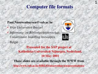 Computer file formats