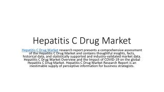 Hepatitis C Drug Market Size