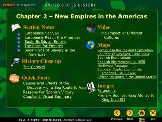 Chapter 2 – New Empires in the Americas