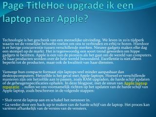 Macbook reparatie Groningen Macbook reparatie Groningen