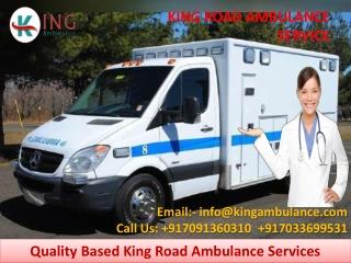 Fastest Road Ambulance Service in Muzaffarpur and Gaya by King