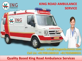 Ambulance Service in Ranchi and Bokaro with Medical facility by King