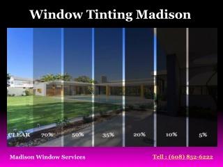 Window Tinting Madison - Madison Window Servies