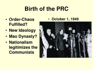 Birth of the PRC