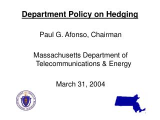 Department Policy on Hedging