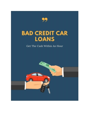Get A Quick Money Loan On Bad Credit Car Loans Alberta