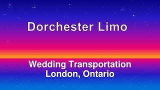 Wedding Transportation London, Ontario
