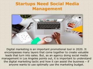 Startups Need Social Media Management