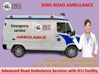 Road Ambulance Service in Patna and Muzaffarpur at Low-Fare by King Ambulance