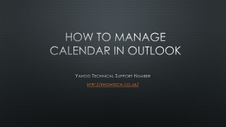 How to manage calendar in outlook