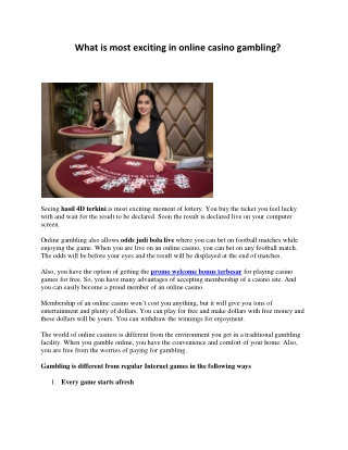 What is most exciting in online casino gambling
