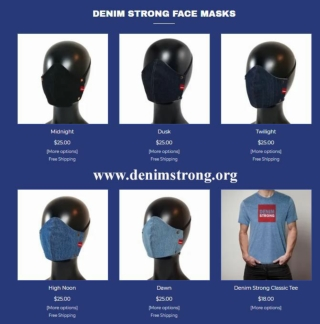 Denim Strong - Denim Face Mask