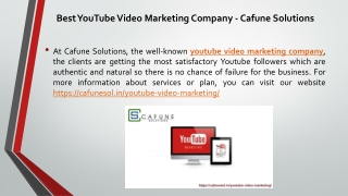 Best YouTube Video Marketing Company - Cafune Solutions