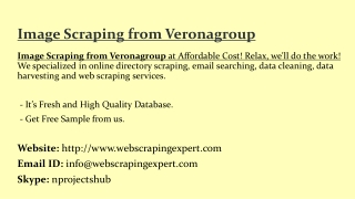 Image Scraping from Veronagroup