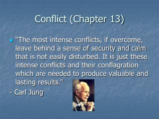 Conflict (Chapter 13)