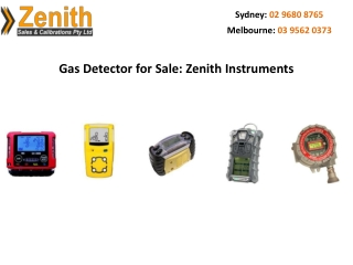 Gas Detector for Sale: Zenith Instruments
