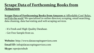 Scrape Data of Forthcoming Books from Amazon