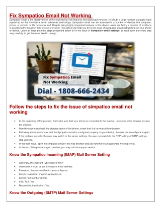 How to Fix Sympatico Email Not Working?
