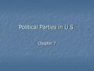 Political Parties in U.S.