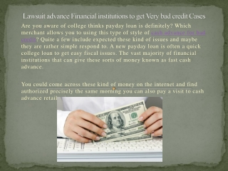 bad credit cash advance