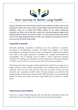 Your journey to better lung health