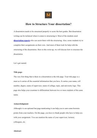 Custom Dissertation Writing Service by Seasoned Academics