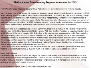 NationaLease Sales Meeting Prepares Attendees for 2013