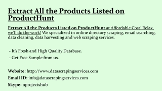 Extract All the Products Listed on ProductHunt