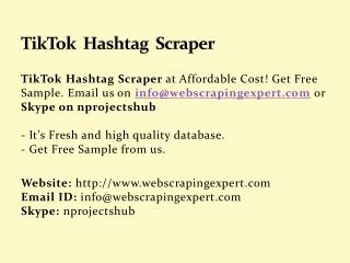 TikTok Hashtag Scraper